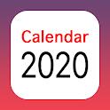 Bank holidays calendar 2019-2020 icon