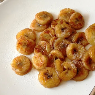 Fried Bananas With Cinnamon Sugar.