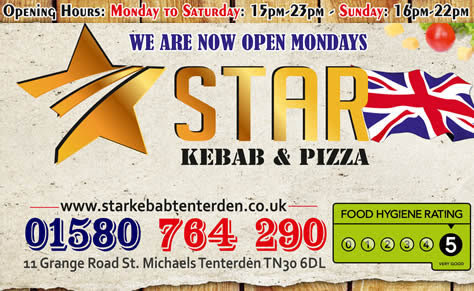 Star Kebab and Pizza St Michaels Tenterden