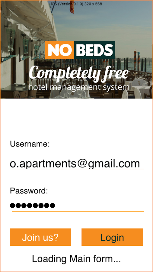 Free hotel management system- screenshot