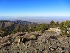 Photo: 4:18 - Pine Mt., again. View north toward the vast Mojave Desert