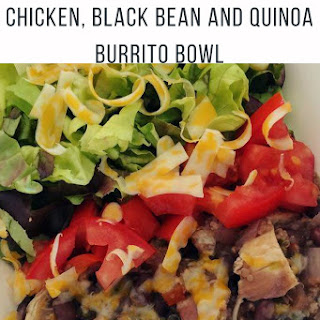 Instant Pot Chicken, Black Bean, and Quinoa Burrito Bowls.