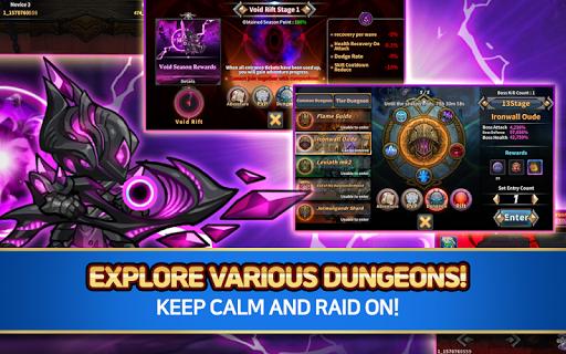 Raid the Dungeon : Idle RPG Heroes AFK or Tap Tap apkslow screenshots 11