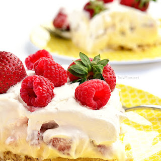 Double Berry Cheesecake Lush Dessert