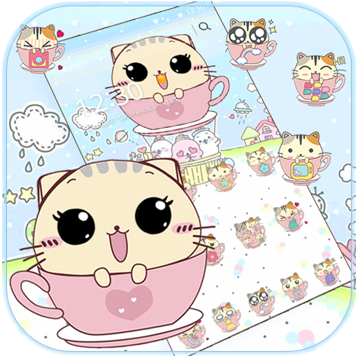Kitty Love Cup Cat Theme