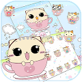 Kitty Love Cup Cat Theme download