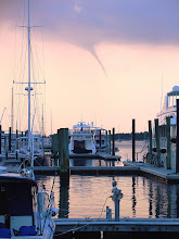 Photo: Waterspout seen from waterfront on Taylor's Creek