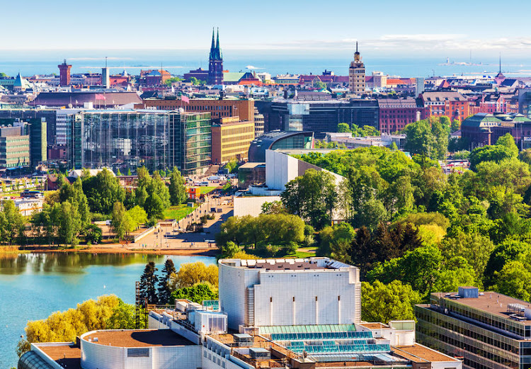 Helsinki in Finland - a country where travel risks are classed as being 'insignificant'.