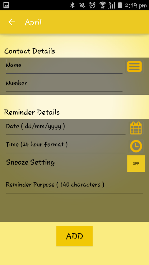 April -Your reminder assistant- screenshot