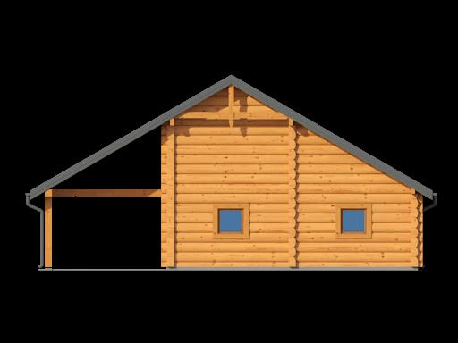 Garaż gd2w - Elewacja tylna