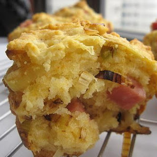 Ham, Brie and Leek Muffins