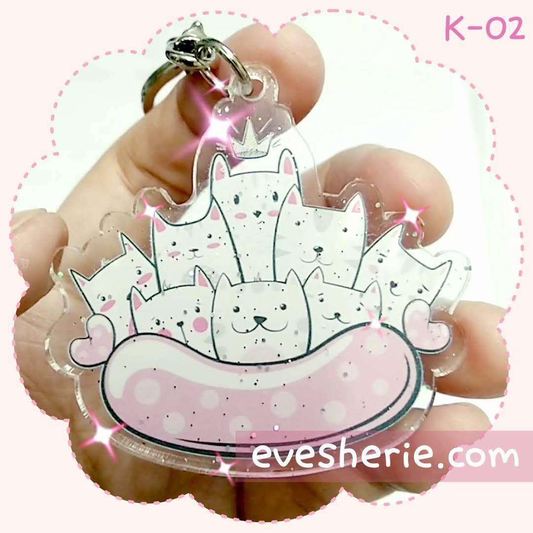 พวงกุญแจ แมว cat keychain