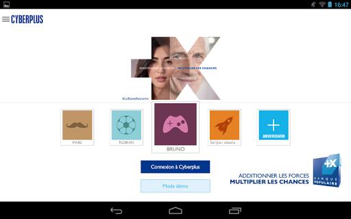 Cyberplus version tablette