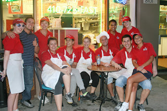 Photo: 2012 crew on break to watch some street activity and fireworks.  Lt to right is Terri Row from ireland, Curtis Puryear from USA, Sharon Connonhan from Galway ireland,  Michelle from Bulgaria, Antonija from Croatia, Stella from Bulgaria,  Georgi from Bulgaria,Then standing is Binod from Nepal, next sitting is Dragomir from Bulgaria,  then standing is Karen Convey from Galway ireland,  and then last but not least sitting on the far right is Vernioca from Bulgaria