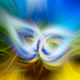 Super S by Steve Friedman - Abstract Patterns ( abstract, sculpture, blue, colorful, yellow,  )