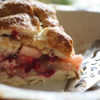 Maple Apple Cranberry Double-Stuffed Pie