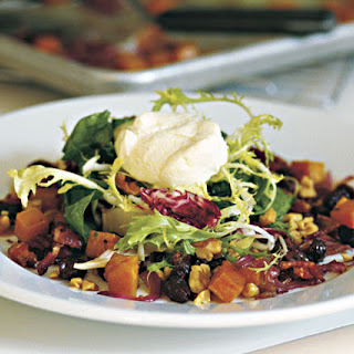 Roasted Butternut Squash Salad with Sherry Maple Vinaigrette