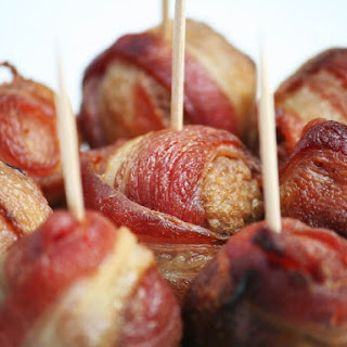 Bacon Wrapped Meatballs.