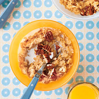 Apple Cider Oatmeal with Pecans