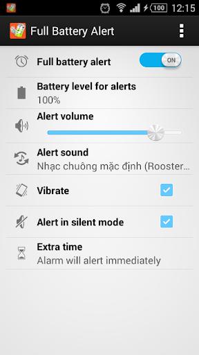 Full Battery Alert