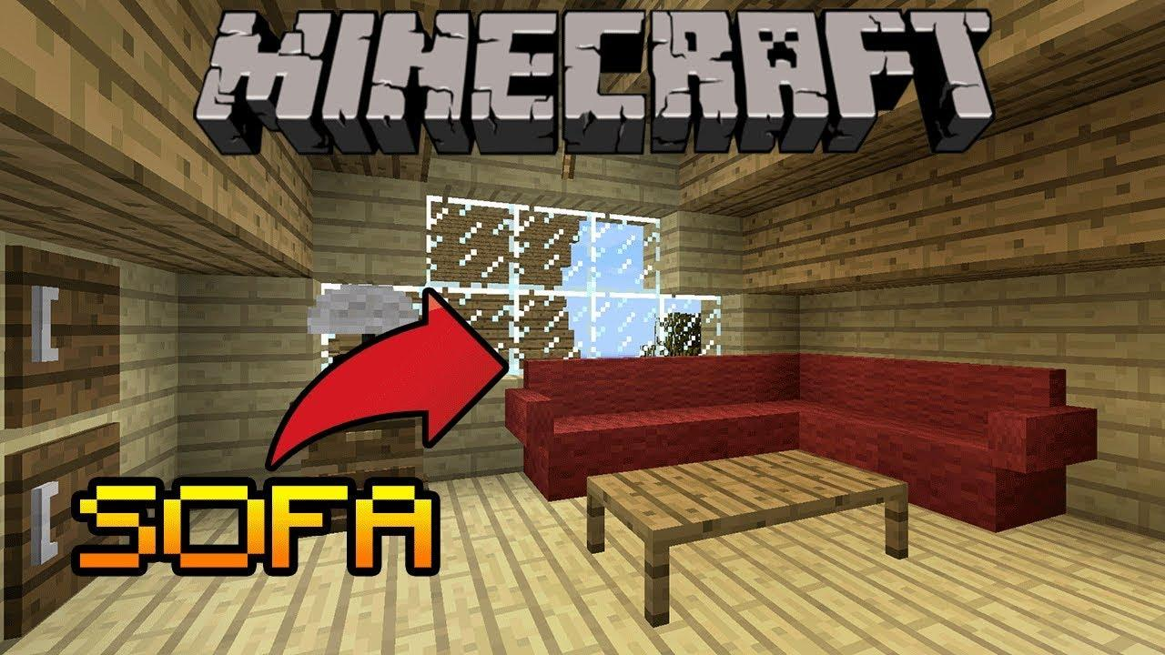 HOW TO MAKE A SOFA WITH PILLOW IN Minecraft (PE, PS4/3, Xbox, Switch) -  YouTube
