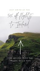 50% Off Flights to Ireland - Facebook Story item