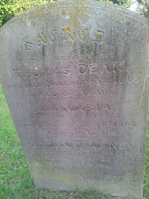 """Photo: 53-Sacred to the memory of Thomas Dean who died November 3rd 1865 aged 82 years also Maria wife of the above who died April 4th 1868 aged 74 years. Also Henry Maney grandson of the above who died September 30th 1866 aged 2 years."""" Why should we mourn departed friends or shake at death's alarms, Tis but the voice that Jesus sends, To call us to his arms"""""""
