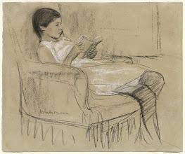 Photo: Max Liebermann, The Artist's Daughter Käthe Reading in a Chair (1893)