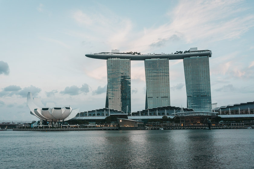 Marina Bay Sands hotel in central Singapore.
