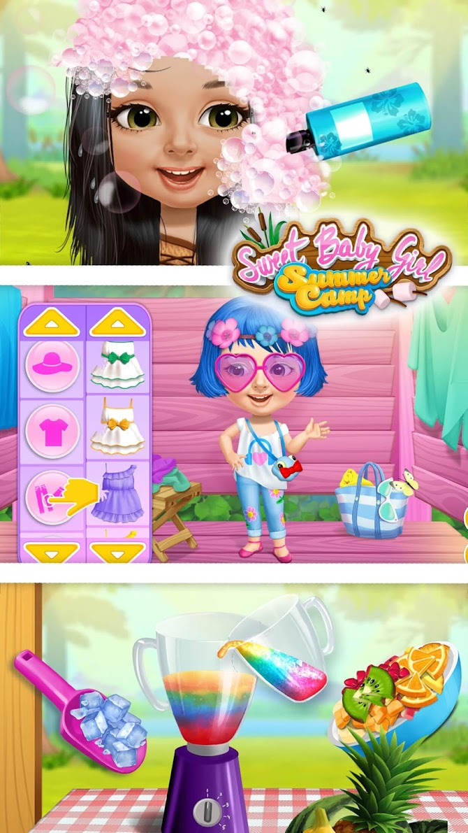 Sweet Baby Girl Summer Camp - Kids Camping Club Android 4