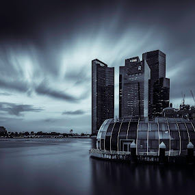 The art of clouds by Binoy Uthup - Buildings & Architecture Architectural Detail ( cbd singapore, cbd, city view, long exposure, architecture, cityscape, longexposure, city skyline, singapore cbd, singapore, city )