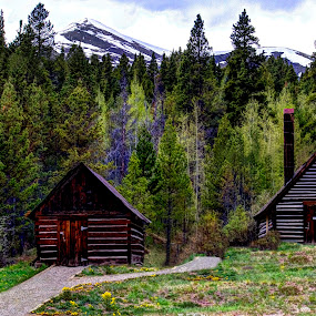 Twin Cabins by Greg Harcharik - Landscapes Mountains & Hills ( . )