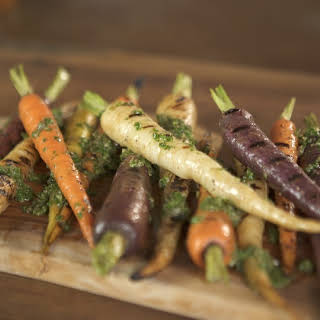 Grilled Heirloom Carrots with Herb Dressing.