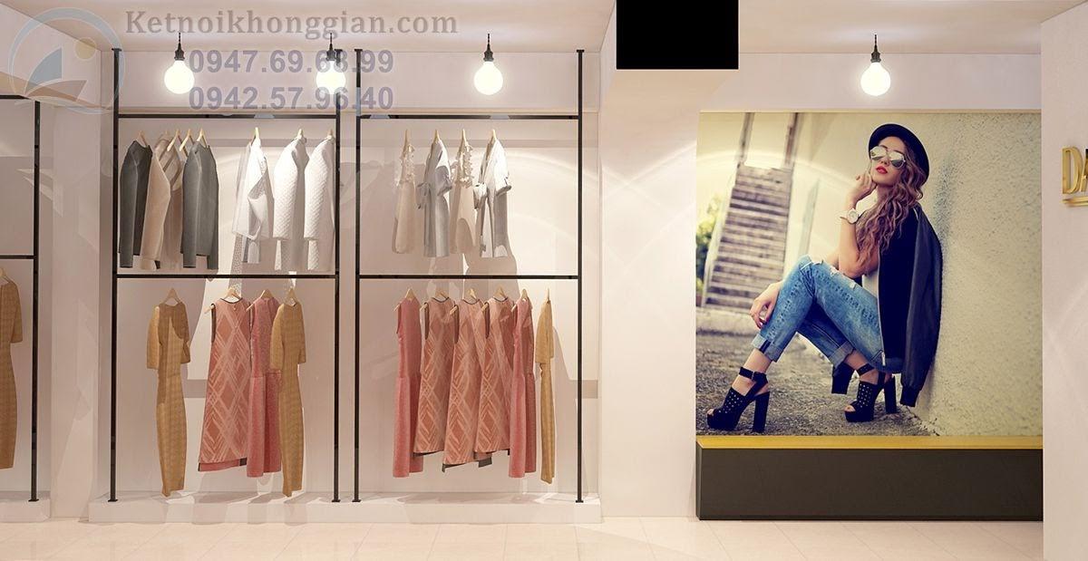 thiết kế shop thời trang sống động