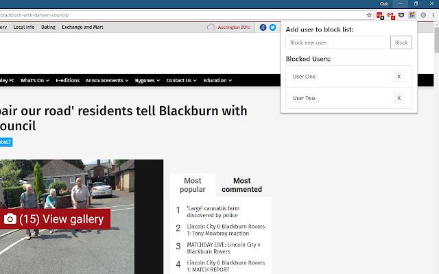 Newsquest User Blocker
