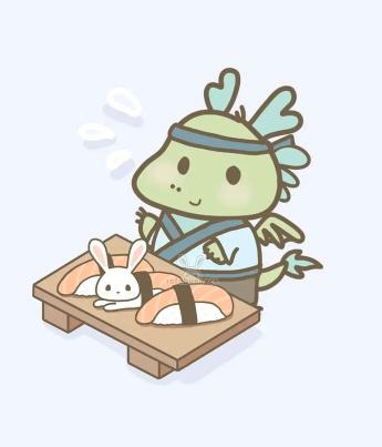dragon sushi man