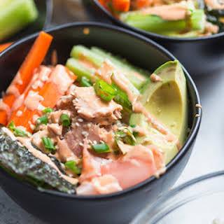 Tuna Rice Bowls with Yum Yum Sauce.
