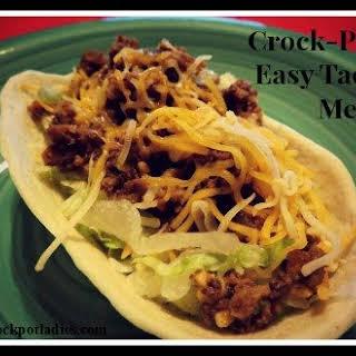 Crock-Pot Easy Taco Meat.
