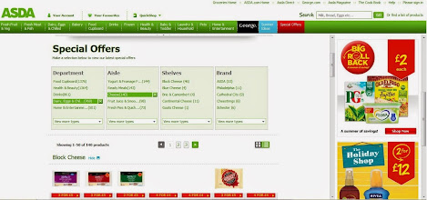 Photo: I browsed the ASDA website to see if there were any particular special offers that could work in my favour there seemed to be a lot of offers on cheese which was handy given the large cheese content in the pasticcio.  I could see lots of other offers on summery foods too.