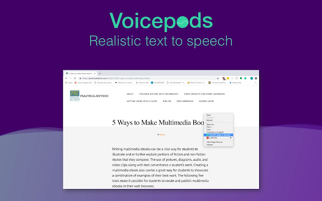 Voicepods - Realistic Text to Speech