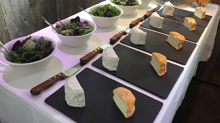 Onboard tasting of cow's milk cheese from the Burgundy and Champagne regions.