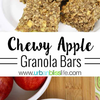 Chewy Apple Granola Bars