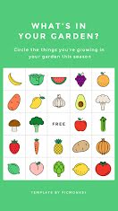 Fruit & Veggie Bingo - Facebook Story item