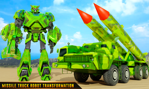 US Army Robot Missile Attack: Truck Robot Games modavailable screenshots 1