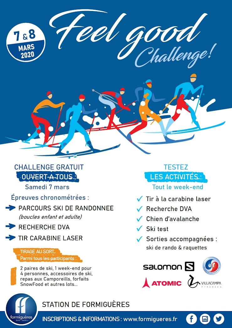 Feel Good Challenge 2020 : 7&8 mars 2020 à la station de Formiguères