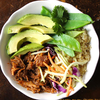 Slow Cooker Chinese Chicken Quinoa Bowls