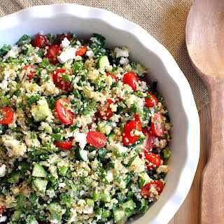 Quinoa Tabbouleh with Feta Cheese.