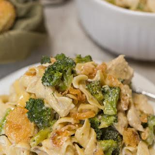 Easy Cheesy Chicken Noodle Casserole.