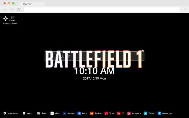 Battlefield 1 Popular HD Games New Tabs Theme