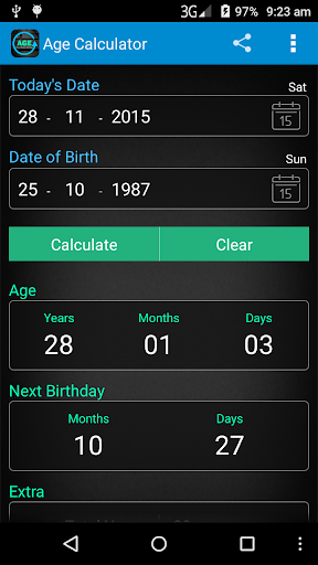 Age Calculator 4.0.6 screenshots 1